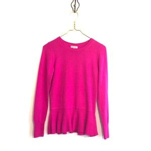 [Lilly Pulitzer] Bright Pink Peplum Sweater- Small
